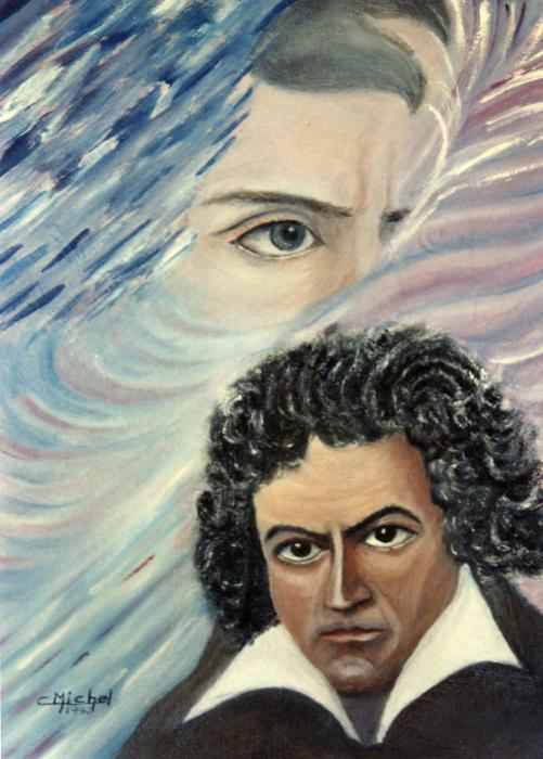 Ludwig van Beethoven by papipeint